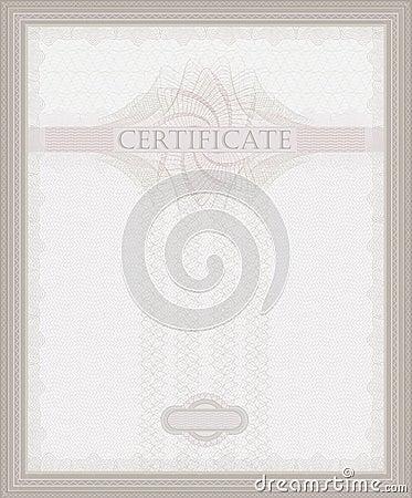 Certificate Guilloche