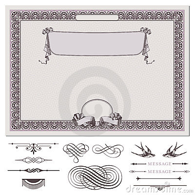 Free Certificate Or Coupon Template Royalty Free Stock Images - 19906679