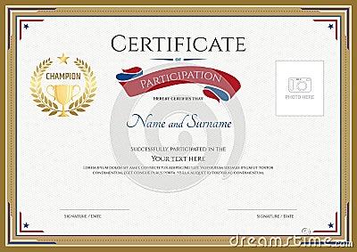 Sports Certificate Template Vector Sports Certificate Wording