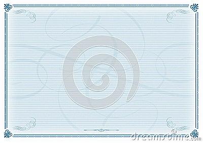 Certificate Template Blue