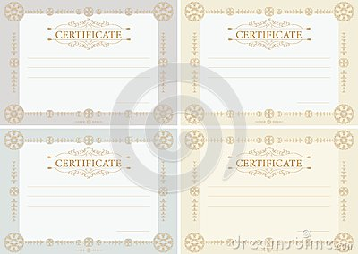 Certificates horizontal