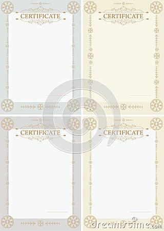 Certificates vertical
