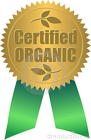 Certified Organic Seal/eps Stock Photography