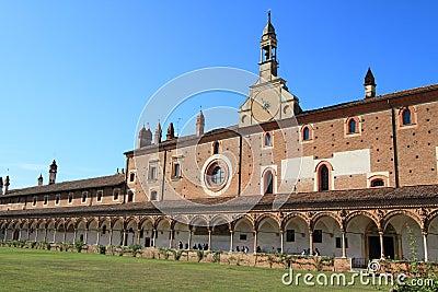 Certosa di Pavia, medieval monastery, Italy Editorial Photo