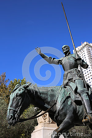 Cervantes Monument. Madrid