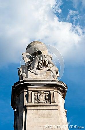 Cervantes Monument at Plaza Espana,Madrid
