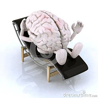 cerveau ce repos sur une chaise longue illustration stock image 40425741. Black Bedroom Furniture Sets. Home Design Ideas