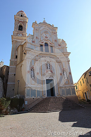 Cervo Church, Liguria, Italy