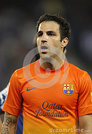 Cesc Fabregas of FC Barcelona Editorial Stock Photo