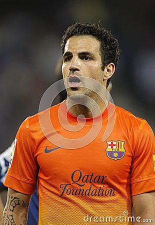 Cesc Fabregas of FC Barcelona Editorial Stock Photo