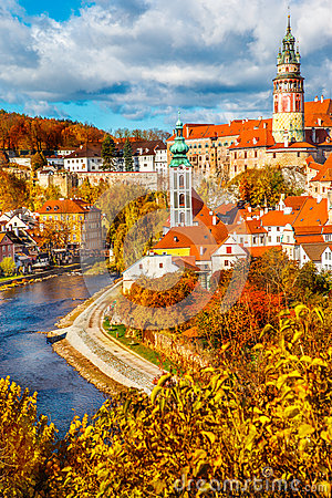 Free Cesky Krumlov Royalty Free Stock Photos - 34717308