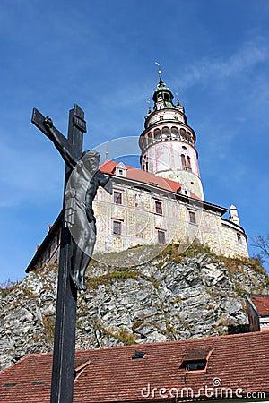 Cesky Krumlov castle in Czech