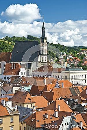 Cesky Krumlov the Church