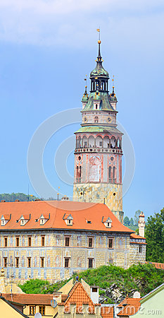 Cesky Krumlov / Krumau, View on Castle Tower, UNESCO World Herit
