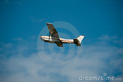 Cessna 172RG Cutlass RG II in flight Editorial Stock Photo