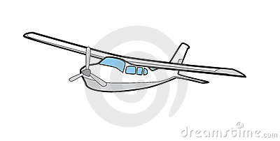 Cessna 210 Illustration Airplane