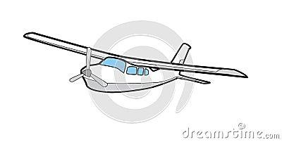 Cessna 210 Illustration Airplane