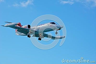 Cessna Citation landing Editorial Photo