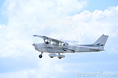 Cessna in flight