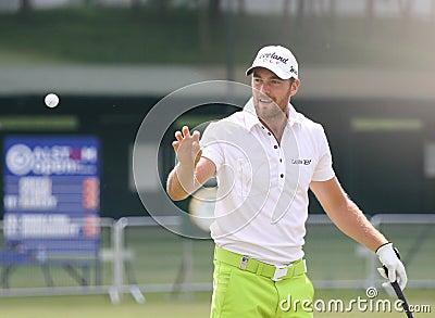 Cevaer cristiano a golf de aperto Francia Fotografia Editoriale