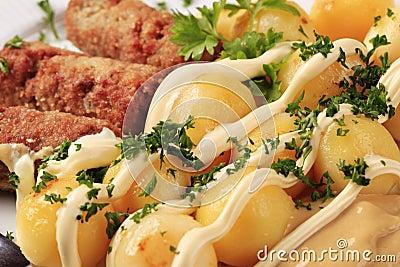 Cevapcici and potatoes