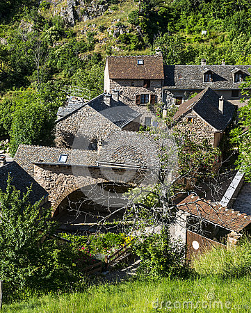 Cevennes: old typical village
