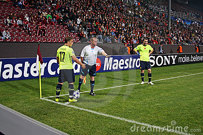 CFR Cluj vs. FC Basel in Champions League Editorial Stock Photo