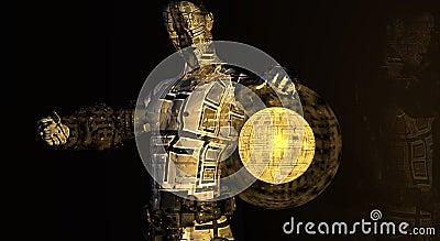 Cg cyborg man