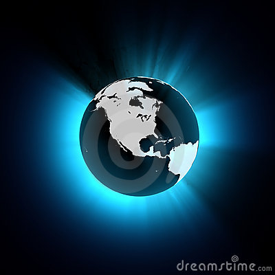 Free CG Stylised Earth - North America View Royalty Free Stock Photos - 1051928