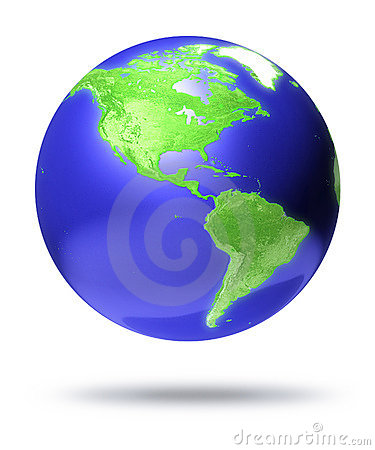 CGI earth globe with America focus
