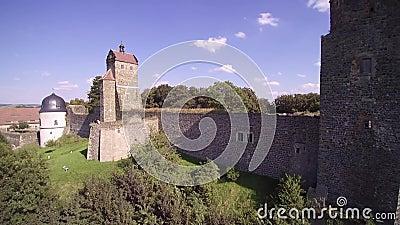 Château de Stolpen banque de vidéos