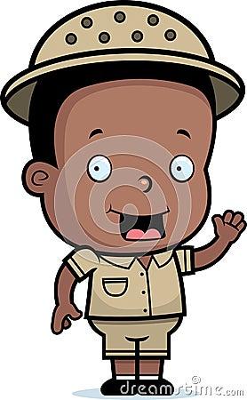 Chłopiec safari
