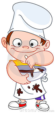 Chłopiec szef kuchni
