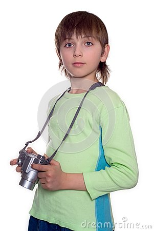 Chłopiec kamera