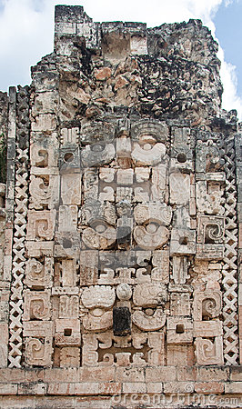 Chac Mayan Rain God in Uxmal Yucatan Mexico