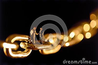 Chain agreement Stock Photo