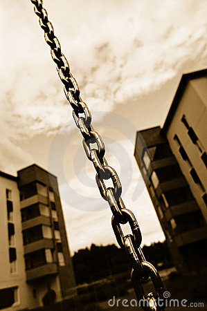 Chain and apartment blocks