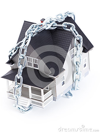 Chain around the house architectural model