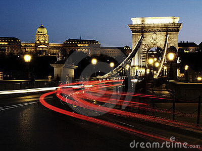 Chain bridge Editorial Photo