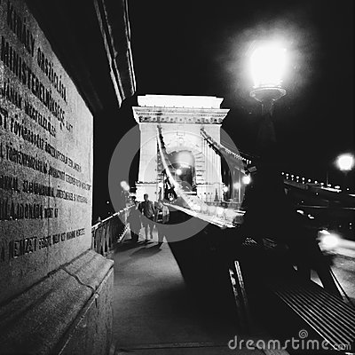 Chain bridge in Budapest Editorial Photography