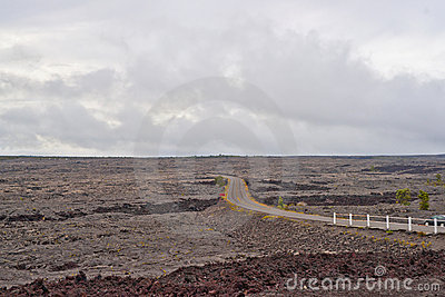 Chain of craters road in Big Island of Hawaii