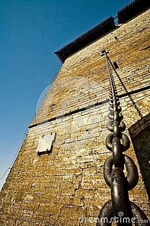 Chain of a draw-bridge