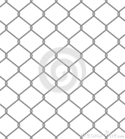 Chain fence. Seamless pattern