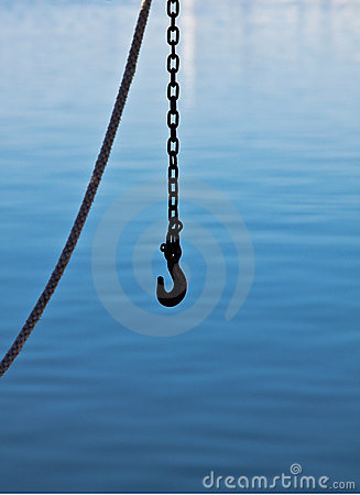 Chain on fishing boat
