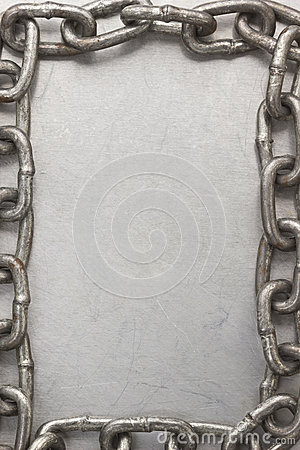 Chain frame on metal  texture