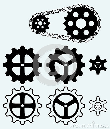 Chain gears and set cogs