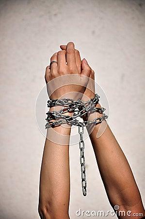 Chain hands slavery