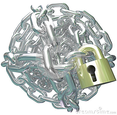 Chain Link Ball Lock Secure Commitment