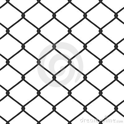 Free Chain Link Fence Vector Stock Photography - 8346002