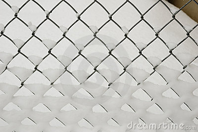 Chain Link in snow
